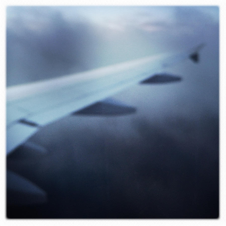 Plane Photograph - Above the clouds 04 - Dreaming by Matthias Hauser