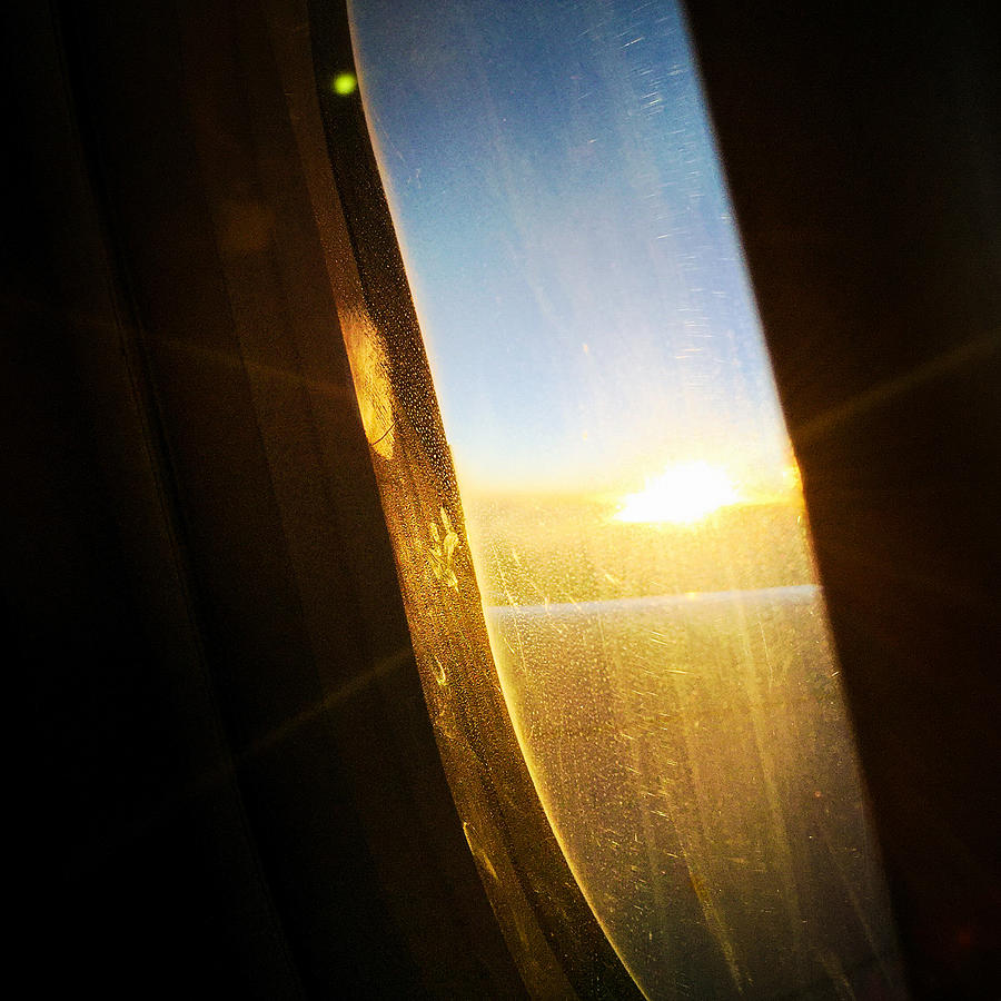 Plane Photograph - Above The Clouds 05 - Sun In The Window by Matthias Hauser