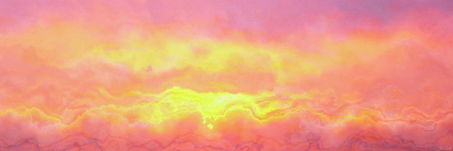 Abstract Sunset Mixed Media - Above The Clouds - Abstract Art by Jaison Cianelli