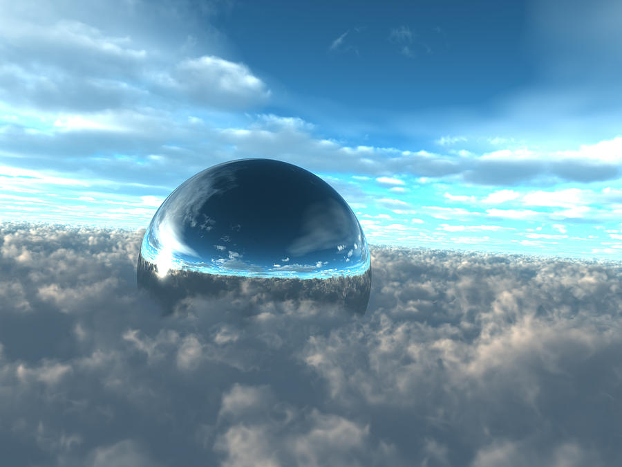 Above Digital Art - Above The Clouds City Dome by Dan Collier