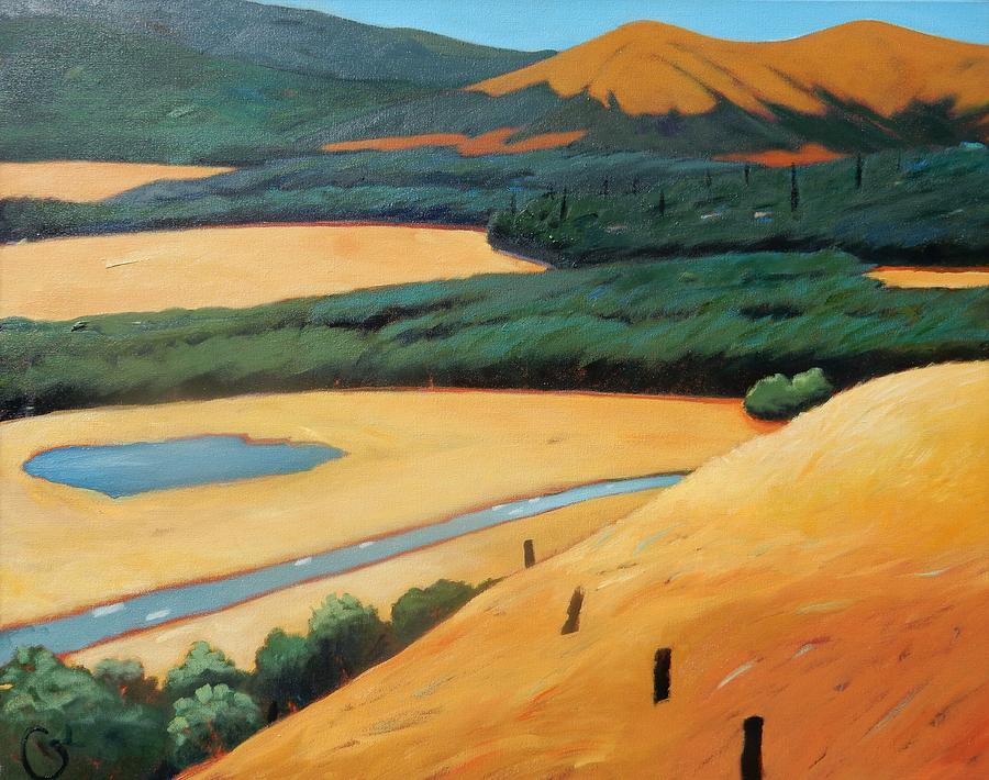 Highway Painting - Above The Highway by Gary Coleman