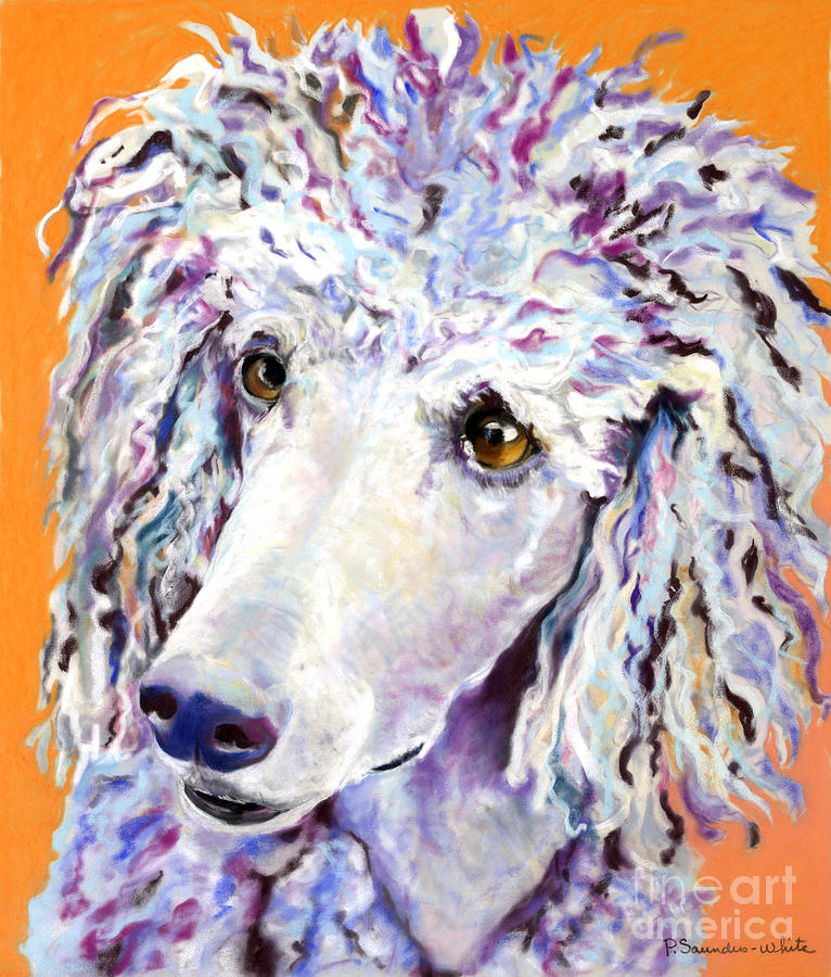 Standard Poodle Pastel - Above The Standard   by Pat Saunders-White