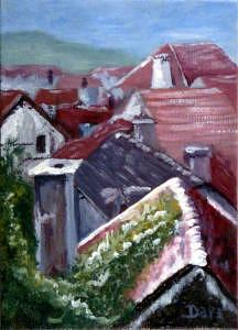Cityscape Painting - Above Tonnerre by Darr Sandberg