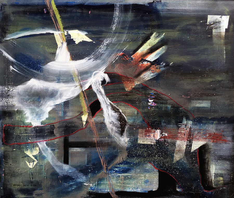 Abstract Expressionism Painting - Abracadabra by Antonio Ortiz