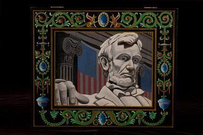 Abraham Lincoln Box Painting by Joseph Greenawalt
