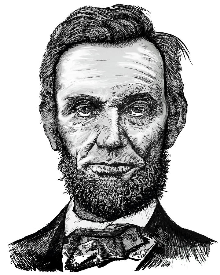 Abraham Lincoln Drawing - Abraham Lincoln by Doug LaRue