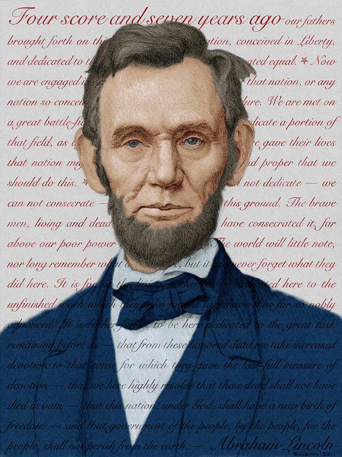 Abraham Lincoln - Patriotic Palette by Swann Smith