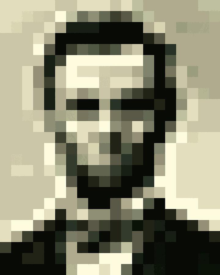 Abraham Lincoln Pixelface Digital Art By Pixel Face