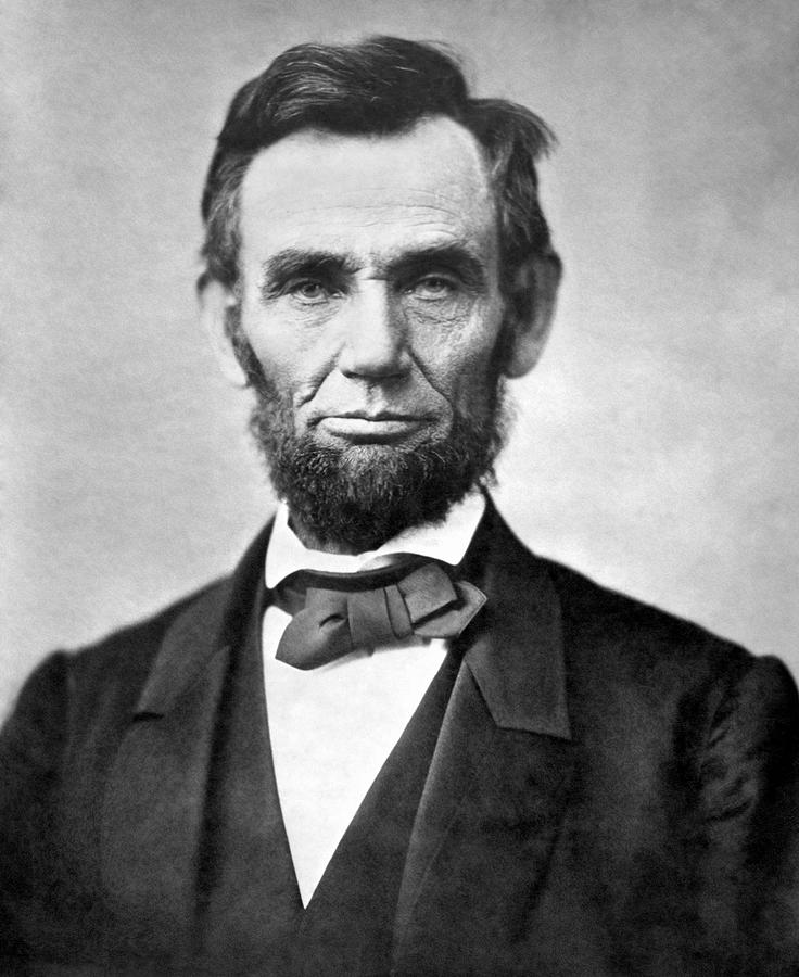 Lincoln Photograph - Abraham Lincoln Portrait - 1863 by War Is Hell Store