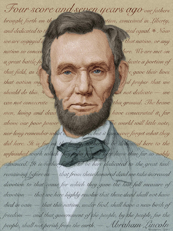 Abraham Lincoln - Soft Palette by Swann Smith