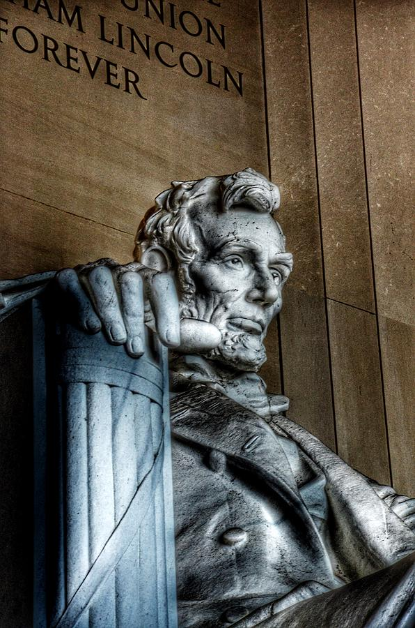 Abraham Lincoln Statue - The Lincoln Memorial Washington D. C. Photograph