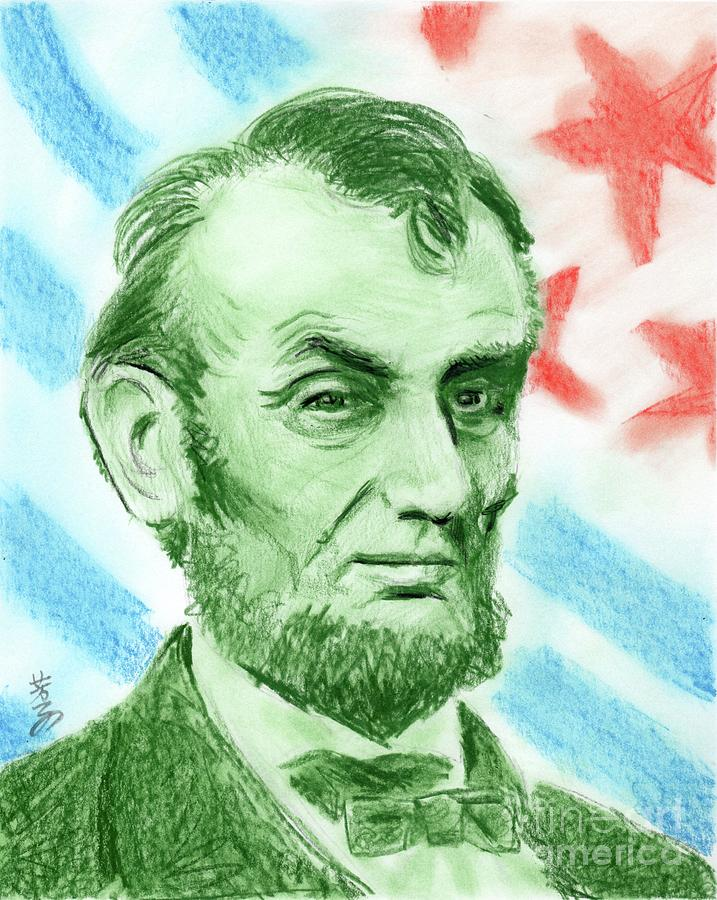 Abraham Lincoln Drawing - Abraham Lincoln  by Yoshiko Mishina