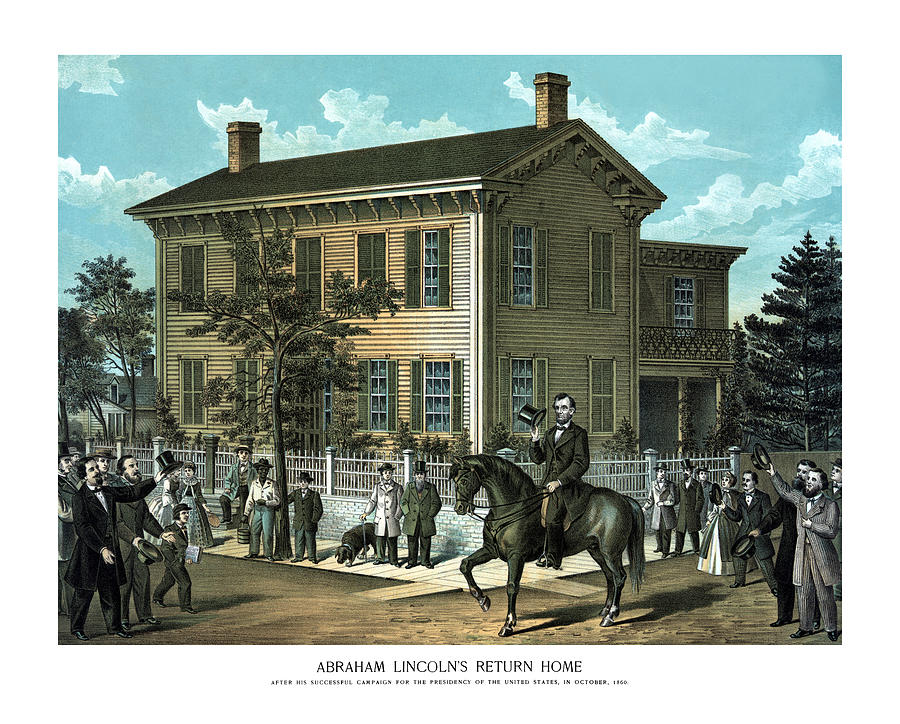 Abraham Lincoln Painting - Abraham Lincolns Return Home by War Is Hell Store