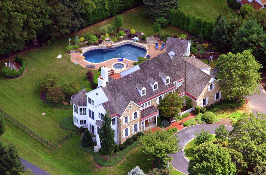 Aerial Photograph - Abrahams Circle Home Villanova Pennsylvania by Duncan Pearson