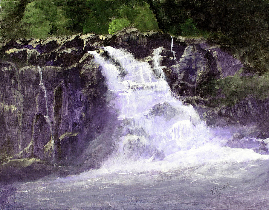 Acrylic Painting Painting - Abrams Falls by Barry Jones