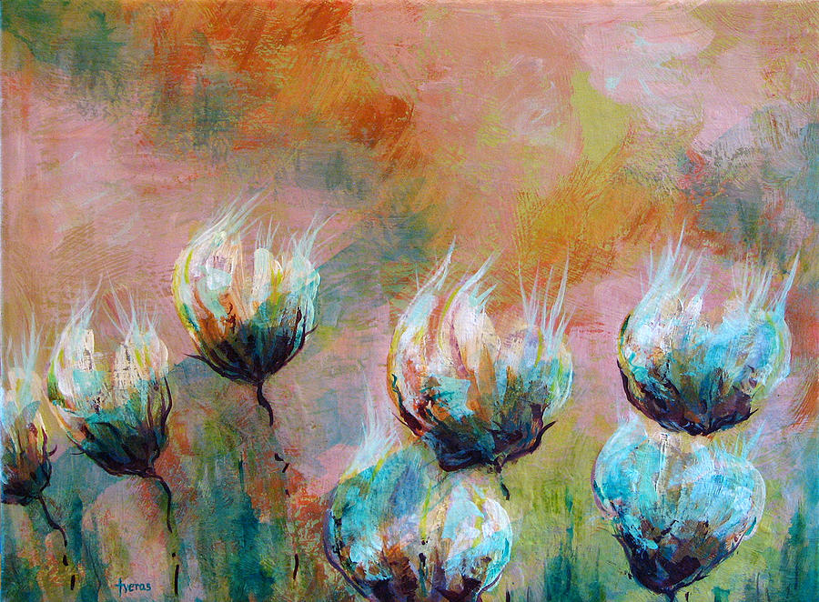 Flowers Painting - Absent by Laura Tveras