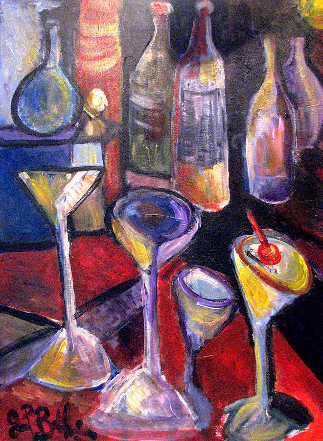 Still Life Painting - Absent One Whiskey  by Jon Baldwin  Art