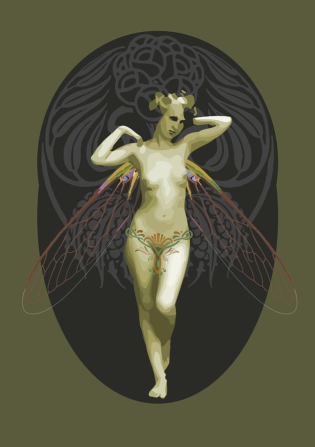 Absinthe Fairy Digital Art By Joaquin Abella