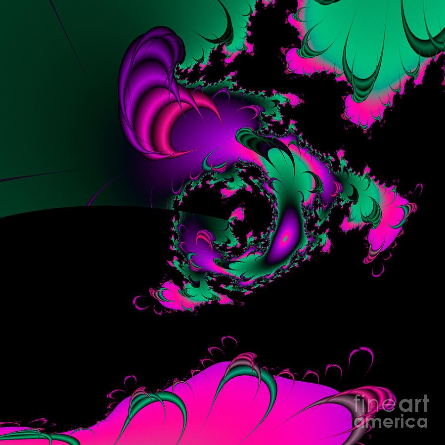 Abstract Digital Art - Abstact 07 A Tex by Rolf Bertram
