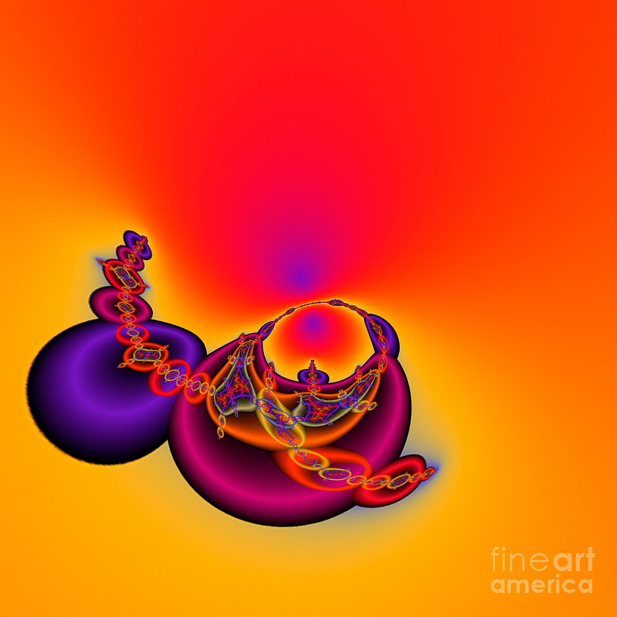 Abstract Digital Art - Abstact 12 A Tex by Rolf Bertram