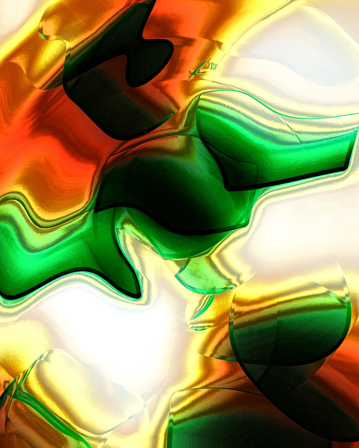 Abstract Digital Art - Abstract - Fusion by Patricia Motley