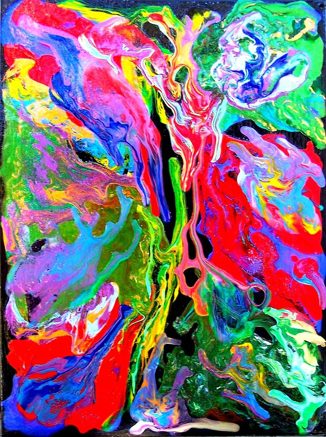 Abstract Painting - Abstract - Rebirth Series - Evas Dream by Dina Sierra