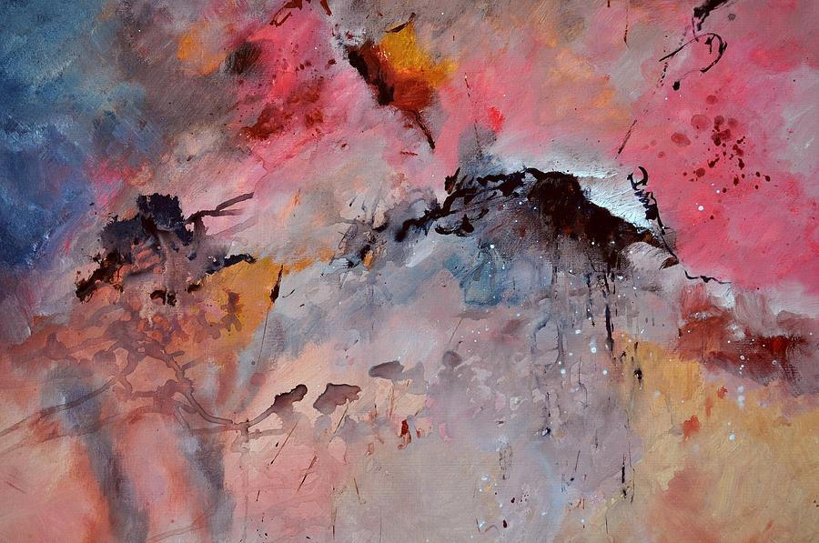 Abstract Painting - Abstract 015082 by Pol Ledent