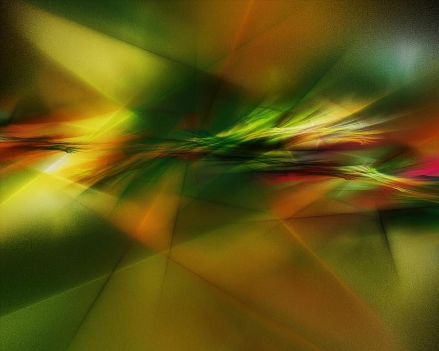Digital Painting Digital Art - Abstract 060210 by David Lane