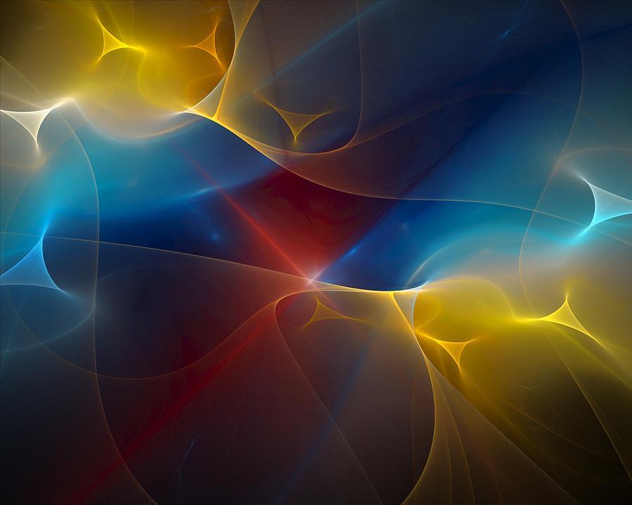 Digital Painting Digital Art - Abstract 060410 by David Lane