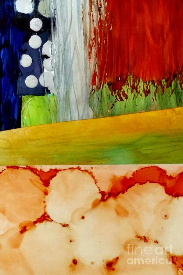 Abstract Painting - Abstract 1 - Alcohol Ink Collage by Patricia Strand