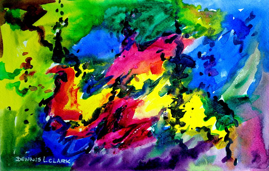 Watercolor Painting - Abstract #1 by Dennis Clark