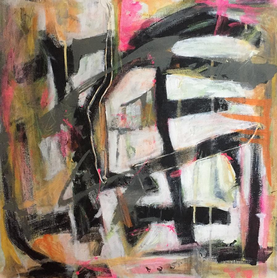 Pink Painting - Abstract 1230-16 by Shelley Graham Turner