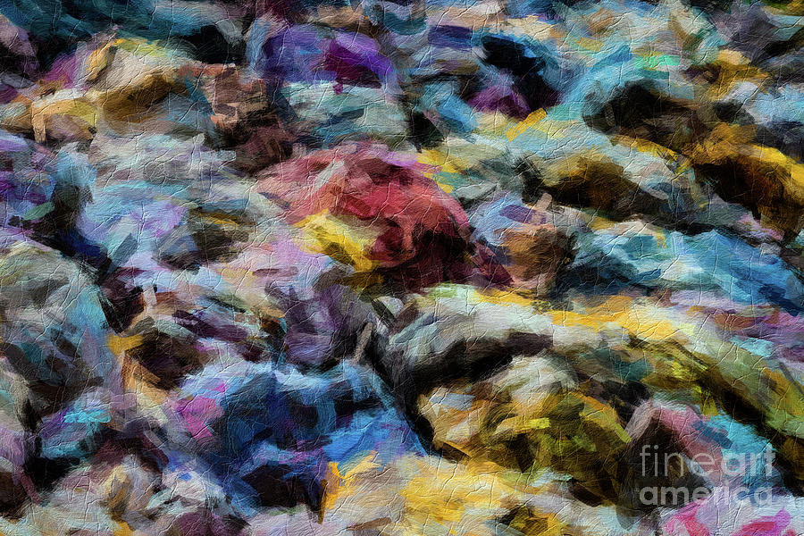 Brushstroke Digital Art - Abstract 133 Digital Oil Painting On Canvas Full Of Texture And Brig by Amy Cicconi