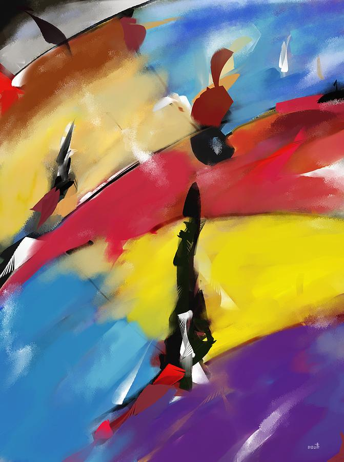 Abstract 1508 Painting by Patric Mouth