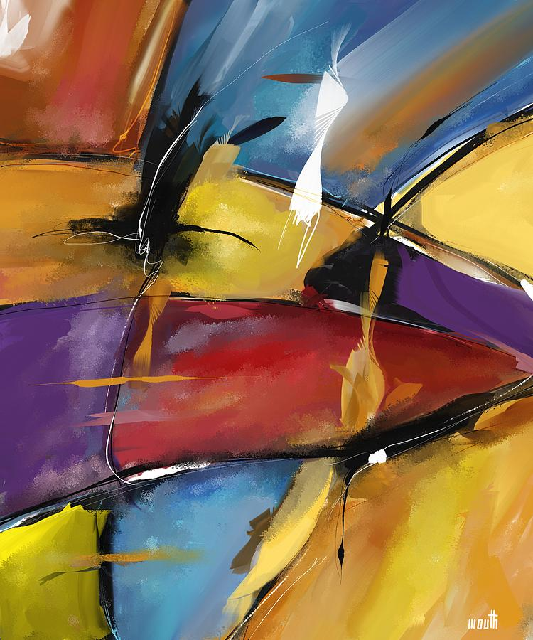 Abstract Painting - Abstract 1509 by Patric Mouth