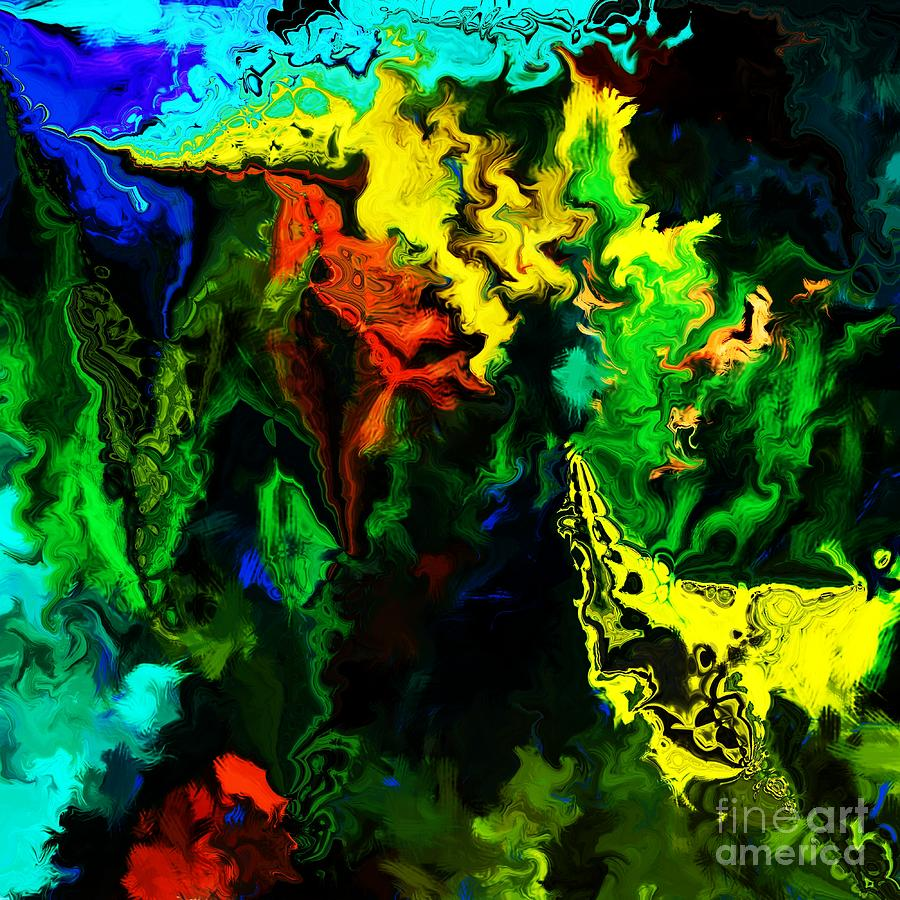 Abstract Digital Art - Abstract 2-23-09 by David Lane