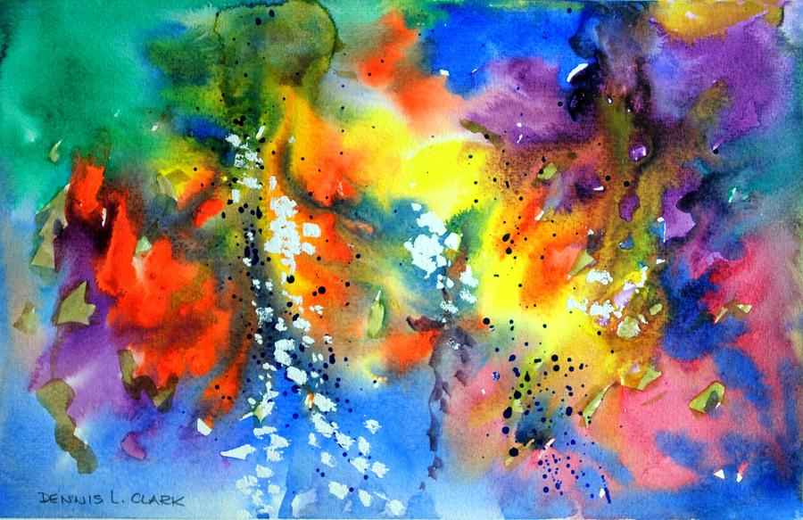 Watercolor Painting - Abstract #2 by Dennis Clark