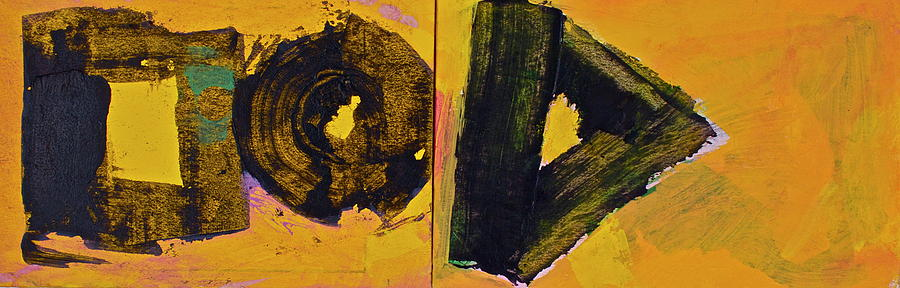 Abstract 2071-diptych by Cliff Spohn