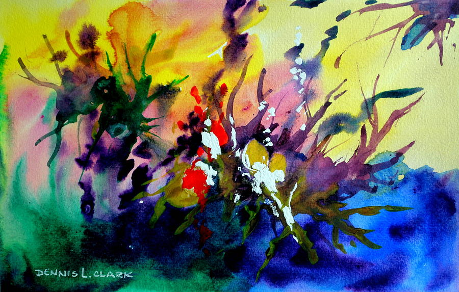 Watercolor Painting - Abstract #3 by Dennis Clark