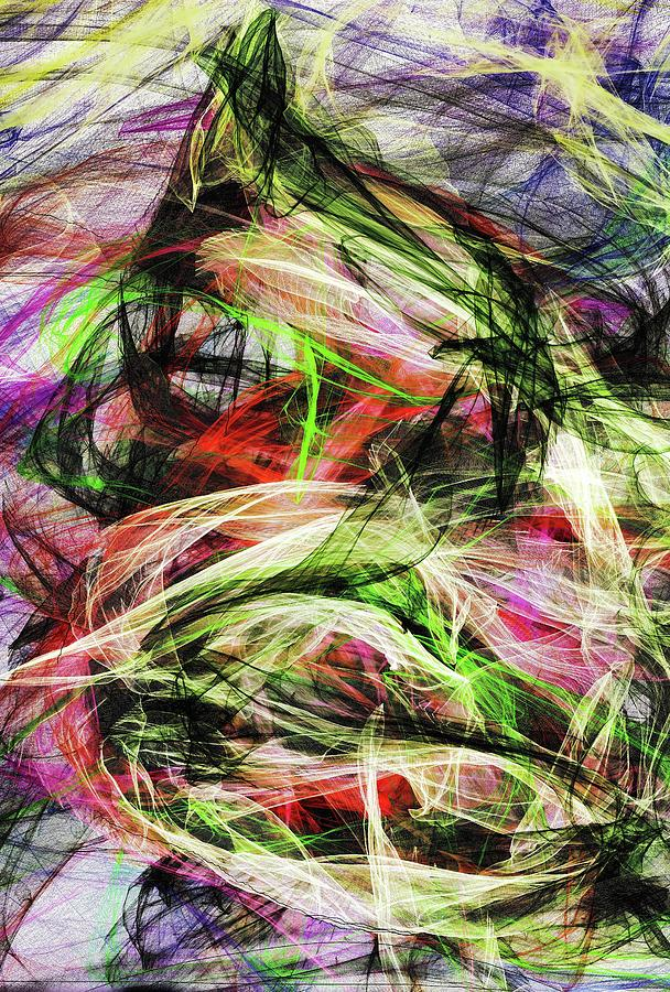 Abstract Digital Art - Abstract 3219 by Kristalin Davis