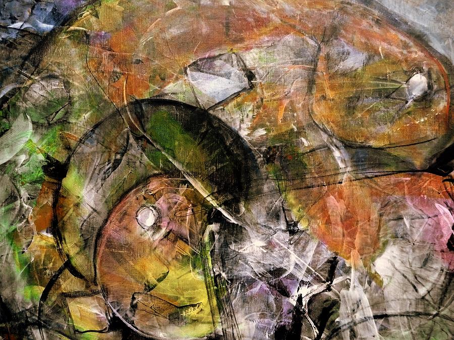 Abstract Painting - Spheres and Influence by Jim Whalen