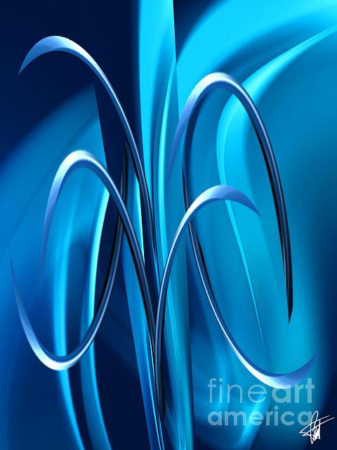 Blue Digital Art - Abstract 36 by Pierre Louis TORET