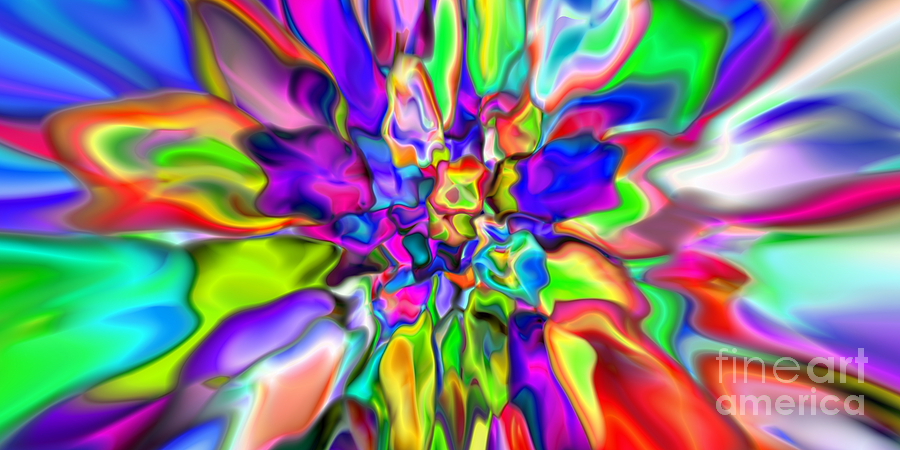Abstract Digital Art - Abstract 376 by Rolf Bertram