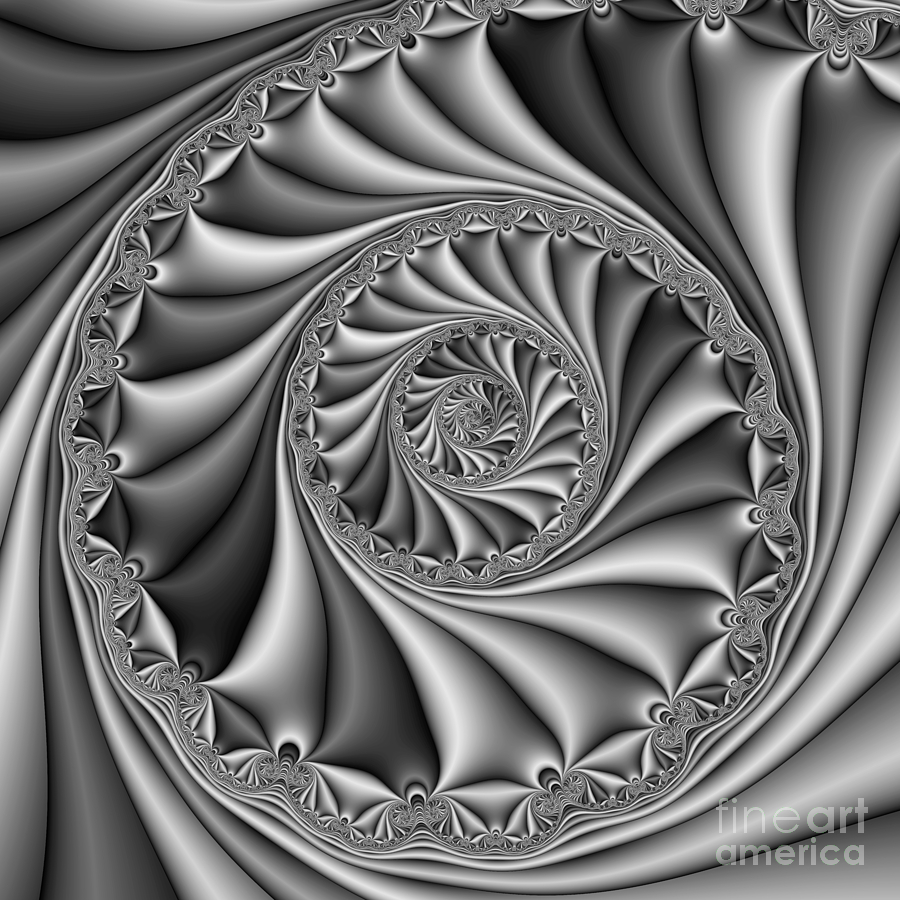 Abstract Digital Art - Abstract 508 Bw by Rolf Bertram