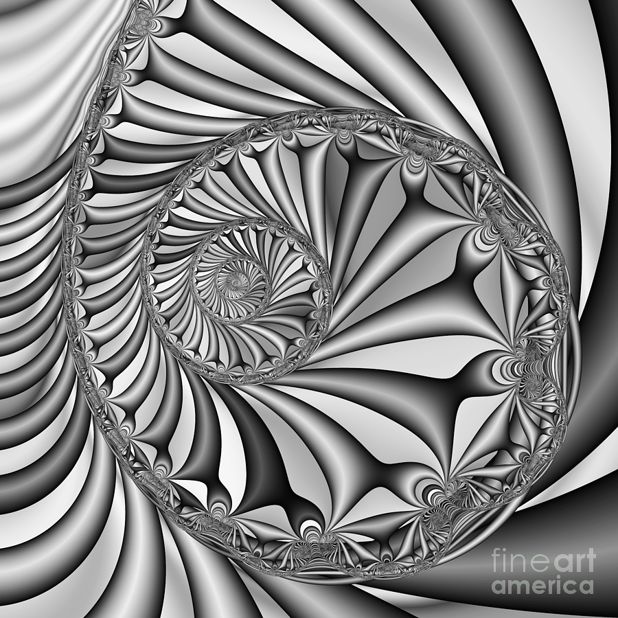 Abstract Digital Art - Abstract 527 Bw by Rolf Bertram
