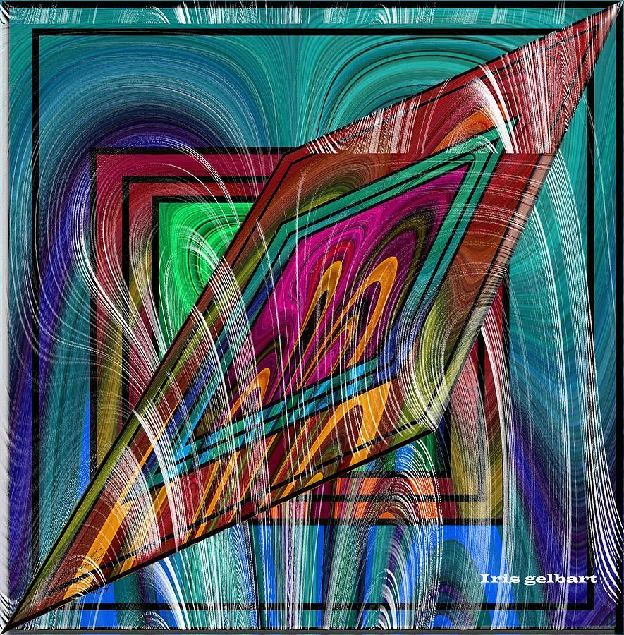 Abstract Digital Art - Abstract 9554 by Iris Gelbart