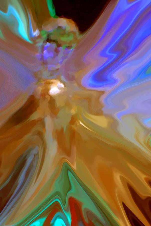 Angel Digital Art - Abstract Angel  by Michelle  BarlondSmith