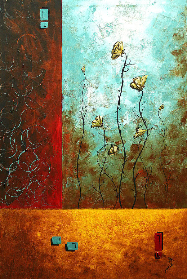 Abstract Art Original Poppy Flower Painting Subtle Changes By ...