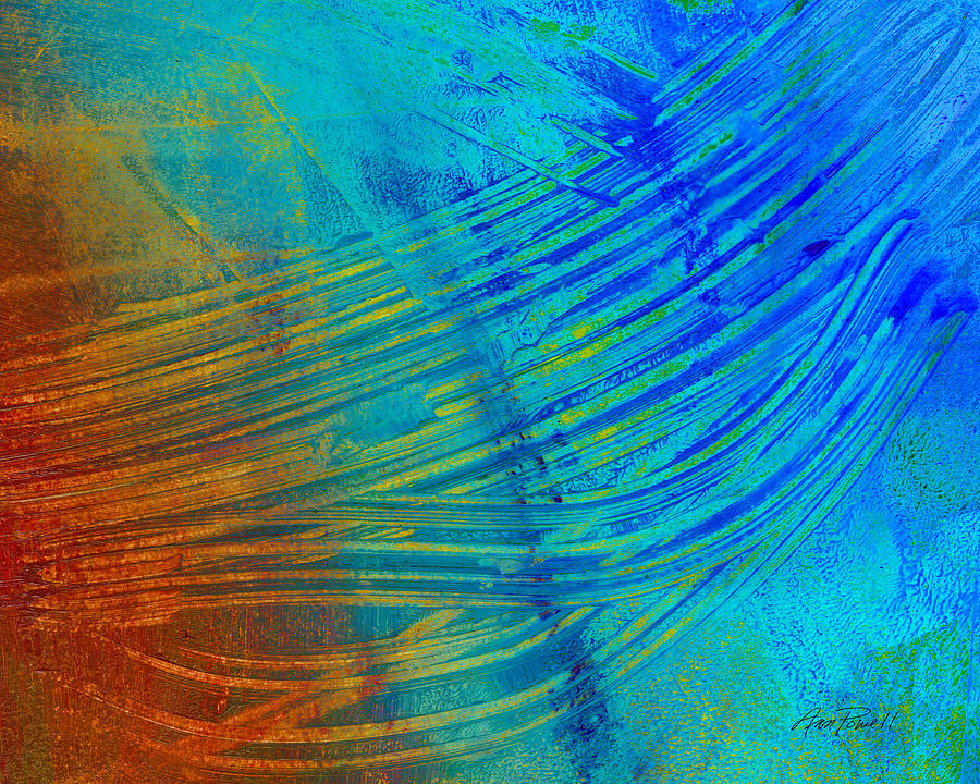 Abstract Painting - Abstract Art  Painting Freefall By Ann Powell by Ann Powell