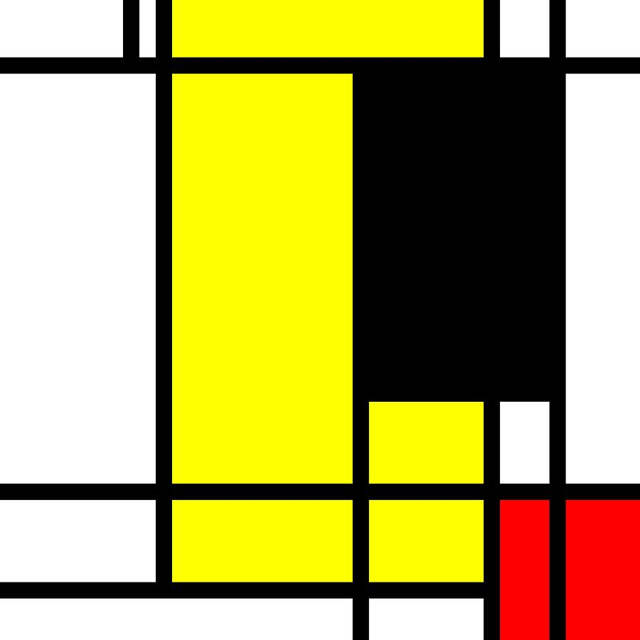 Abstract Art Piet Mondrian Style 19 Digital Art by Vadim Pavlov